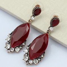Cheap earrings cartilage, Buy Quality earring male directly from China game purple Suppliers: Exquisito Mystic Fashion Turkish Jewelry Sets For Personality Womans Shiny Ruby Red Resin Necklace Brincos Set African J
