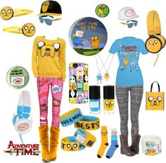 """finn and jake 3"" by catbreath ❤ liked on Polyvore I want it I'am a geek"
