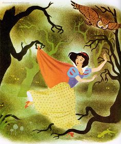 """""""Snow White and the Seven Dwarfs"""" illustration by Campbell Grant."""