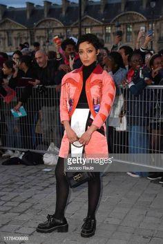 Ruth Negga attends the Louis Vuitton Womenswear Spring/Summer 2020 show as part of Paris Fashion Week on October 2019 in Paris, France. Paris Fashion, Women Wear, Spring Summer, Louis Vuitton, Street Style, Blazer, Jackets, Clothes, Down Jackets