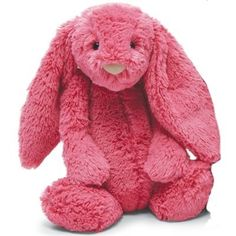 A soft and floppy bunny in bold pink from the Bashfuls collection