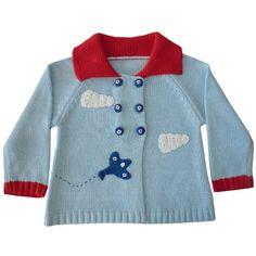 hand knitted vintage aeroplane pram coat- LOVE THIS!