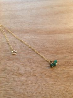 Tiny Jade Gold Filled Necklace Simple Gold by simpleandgold