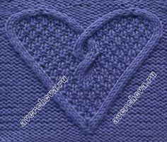 узор 497 «Сердечко из кос»   каталог вязаных спицами узоров   Вязание   Постила