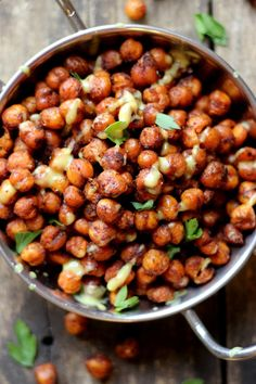 - Spicy Roasted Chickpeas and Lemon Tahini Dressing -