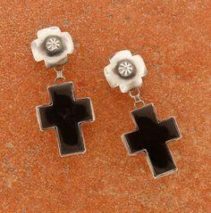 Rocki Gorman Black Onyx Cross Earrings from Smith and Western