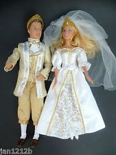 BARBIE PRINCE KEN AND BARBIE DOLL IN WEDDING OUTFITS MATTEL 2005 2006