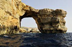 #Malte - La Fenêtre d'Azur depuis la mer à #Gozo #Malta
