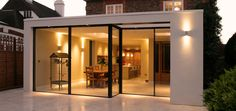 This contemporary pavilion style glass extension to an Edwardian Villa replaces a glass conservatory. Garden Room Extensions, House Extensions, Glass Extension, Rear Extension, Glass Conservatory, Dark House, Glass Room, London House, Kitchen Diner Extension