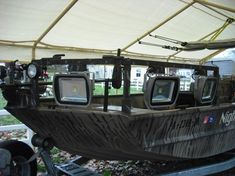 Ok, this needs to be my next big project.  Going to rig my boat for night Bowfishing & Flounder Gigging!  New 27 Watt 12V LED lights means NO GENERATOR!  Silent Running!  Yeah Baby!