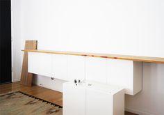 Ikea hacker shelf, Brick house