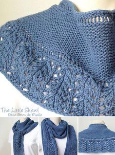 Knitting pattern scarf … shawl : The Little Shawl