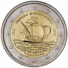moneda conmemorativa 2 euros Portugal 2011., Tienda Numismatica y Filatelia Lopez, compra venta de monedas oro y plata, sellos españa, accesorios Leuchtturm
