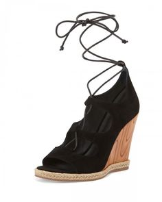 Tory+Burch+Raya+Suede+Lace+Up+Wedge+Sandals+Black+Women's+8b+38b+|+Shoes+and+Footwear
