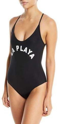 6b27d6b9ab2 Pilyq Farrah La Playa Scoop-Neck One-Piece Swimsuit Pilyq, Scoop Neck,