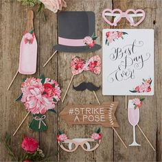 We adore these vintage props from Glam Finish