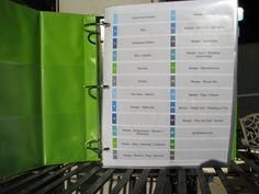 Just 1 Tip! {Create an Inventory Binder} via www.craftstorageideas.com