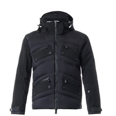 MONCLER GRENOBLE Chateauroux down-filled ski jacket ($1,946) ❤ liked on Polyvore featuring men's fashion, men's clothing, men's outerwear, men's jackets, black, jackets, mens insulated jackets, mens insulated ski jackets, mens ski jackets and mens hooded jackets