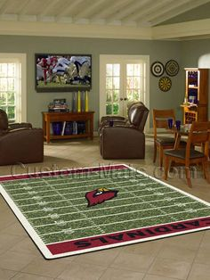 20847c8dc71c Arizona Cardinals NFL Team Home Field Rug