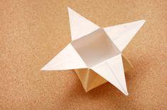 Moedersdag geskenk - Origami Star Boks met Origami blom gemaak van Origami Fortune teller
