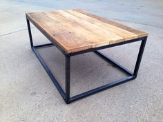 Reclaimed Wood and Steel Coffee Table by PHweld on Etsy