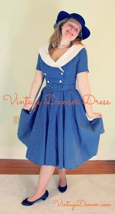 Shop the best swing dresses. Great for swing dancing or vintage casual looks. 1940s Fashion Dresses, 1940s Dresses, 1950s Swing Dress, Vintage Inspired Fashion, Camping Outfits, Bees Knees, Happy Shopping, Dancer, Fasion