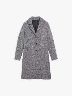 manteau shady bleu marine et blanc en tweed | agnès b. Tweed, Blazer, Jackets, Men, Collection, Fashion, Navy And White, Mantle, Down Jackets