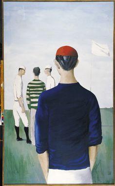 Kamil Lhoták: Hráči baseballu, 1947 Artists, Painting, Painting Art, Paintings, Painted Canvas, Artist, Drawings