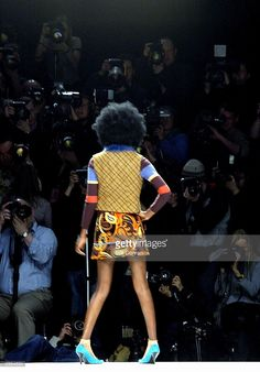 A model walks the runway at the Ronit Zilkha fashion show during London Fashion Week A/W 04/05 at BFC Tent on February 15, 2004 in London.