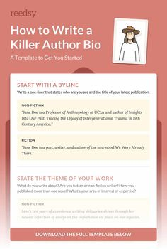 About The Author Template Writer Business Card New Cards Awesome pertaining to Bio Card Template - Professional Templates Ideas Writing A Bio, Writing Prompts For Writers, Writing Tips, Writers Notebook, English Writing, Writing Help, Writing Characters, Teacher Quotes, Creative Writing