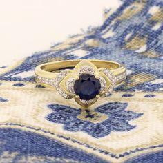 🌻 The petal shaped halo surrounding the blue sapphire center stone illuminates the white diamond details of the Sunila engagement ring 🌻 Inspired by the beautiful sunflower 🌻 Sapphire Wedding Rings, Blue Sapphire, Halo, Engagement Rings, Inspired, Stone, Diamond, Beautiful, Jewelry