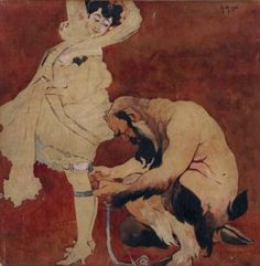 Jacek Malczewski - Woman and Satyr