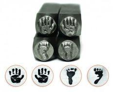 Slagstempelset Handen en Voeten 4 stuks ImpressArt