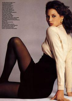 """80s90sredux: """"  'Fashion's Key Points' from…………Vogue UK July 1987 feat Christy Turlington """""""