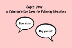 Speech Therapy Ideas: Cupid Says – A Valentine's Day Game for Following Directions! Pinned by SOS Inc. Resources. Follow all our boards at pinterest.com/sostherapy/ for therapy resources.