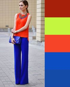 Classy Fashion Tips .Classy Fashion Tips Colour Combinations Fashion, Color Combinations For Clothes, Color Blocking Outfits, Fashion Colours, Colorful Fashion, Color Combos, Boho Fashion, Fashion Looks, Fashion Outfits