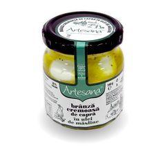Brânza cremoasă din lapte de capră în ulei de măsline extravirgin