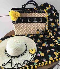 17 melhores imagens de bolsa de praia personalizada   Straw Bag ... 2abe320582