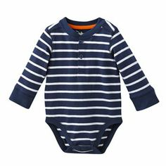 Jumping Beans Striped Henley Bodysuit - Baby Kohls $5.99 (Sale) Other colors available.