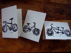 On Yer Bike Linocut Card Set