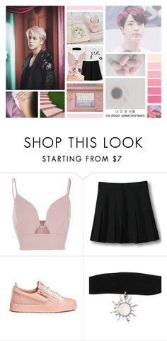 """""""BOTB // Round 1; Introduction"""" by enola-pycroft ❤ liked on Polyvore featuring GET LOST, River Island, WithChic and Giuseppe Zanotti"""