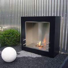 Portable fireplace for modern sense house square shape for Denatured ethanol fireplace