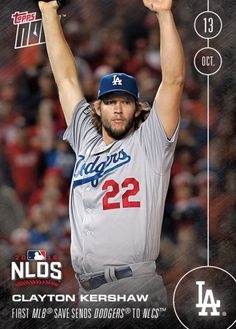 A Whole Ton of Dodgers 2016 Topps Now Cards are Now Available - Kershaw Autographs  There are now a bunch of 2016 Topps Now Dodger cards commemorating last nights thrilling victory currently available for sale; including a limited number of Clayton Kershaw autograph and autographed game-used relic cards.