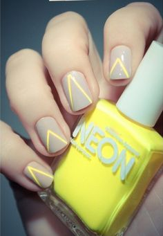 neon v nails. bright, but not TOO bright.