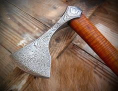 [For Sale] [s] Damascus Viking axe