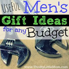 Don't know what to buy that guy this year? Check out this list of useful men's gift ideas for any budget. Budget's ranging from $10- $100.