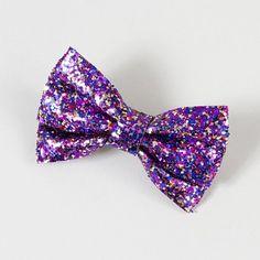 Glitter Bow Barrette | Claire's
