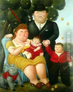 fernando botero Family II print for sale. Shop for fernando botero Family II painting and frame at discount price, ships in 24 hours. Most Famous Paintings, Famous Artists, Frida Diego, James Ensor, Retro Stil, Ludwig, Oil Painting Reproductions, Naive Art, Renoir