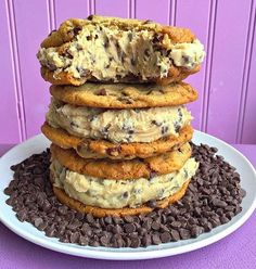 Cookie Dough Stuffed Cookie Sandwiches