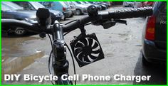 DIY Bicycle Mounted Cell Phone Charger - http://www.gottagodoityourself.com/diy-bicycle-mounted-cell-phone-charger/